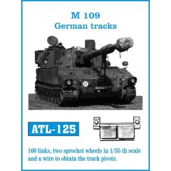 M 109 German 1/35 metal tracks