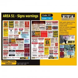 AREA 51 - Signs warnings