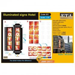 Illuminated signs Hotel