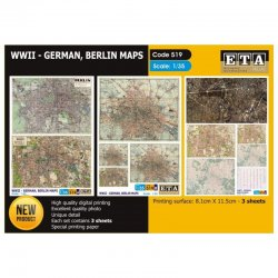 WWII- GERMAN, BERLIN MAPS