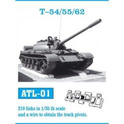 T-54/55/62 1/35 metal tracks