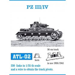 PZ III/IV  1938-41 1/35 metal tracks