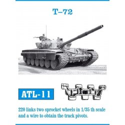 T-72 1/35 metal tracks