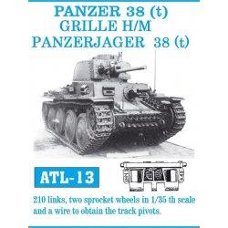 PANZER 38 (t) 1/35 metal tracks