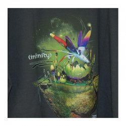 "T-shirt Infinity ""Dragonfly"", light graphit"