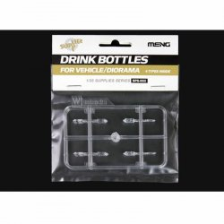 Drink Bottles for Vehicle/Diorama (4types) 1/35