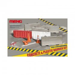 Concrete & plastic barrier...