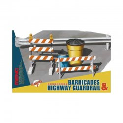 Barricades & Highway Guardrail 1/35