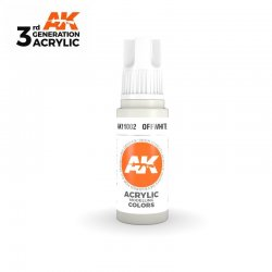 Off-White 17ml - 3rd Gen Acrylic AK Interactive AK11002
