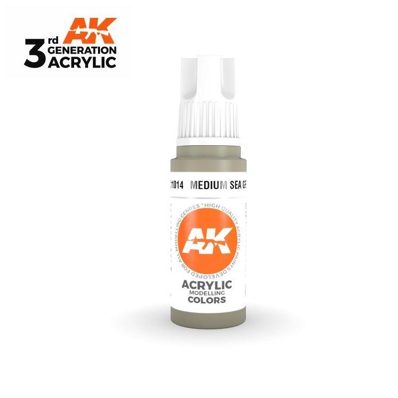 Medium Sea Grey 17ml - 3rd Gen Acrylic AK Interactive AK11014