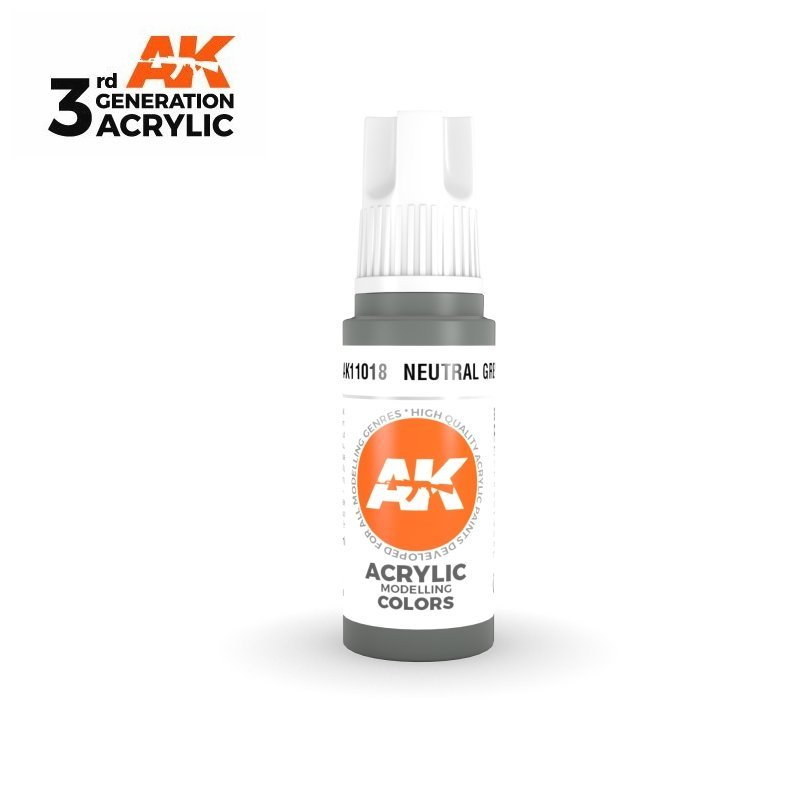 Neutral Grey 17ml - 3rd Gen Acrylic AK Interactive AK11018