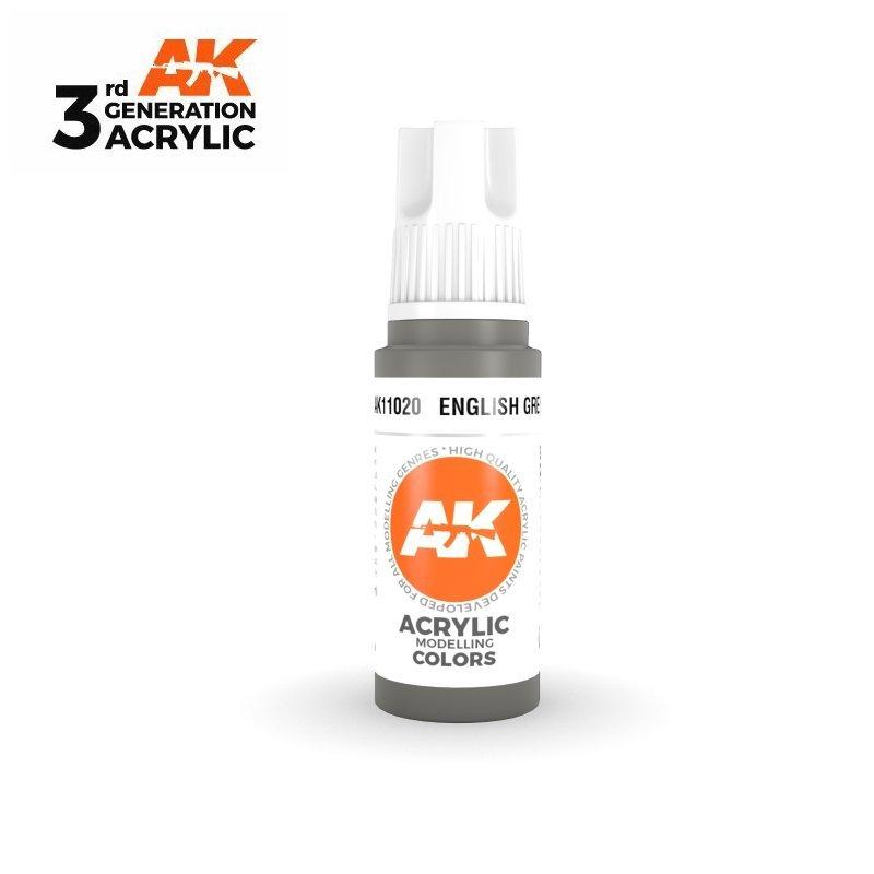 English Grey 17ml - 3rd Gen Acrylic AK Interactive AK11020