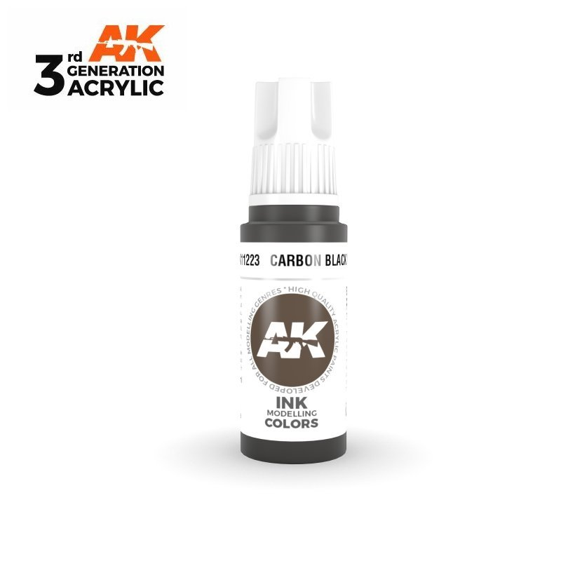 Carbon Black INK 17ml - 3rd Gen Acrylic AK Interactive AK11223
