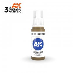 Rusty Gold 17ml - 3rd Gen Acrylic AK Interactive AK11193