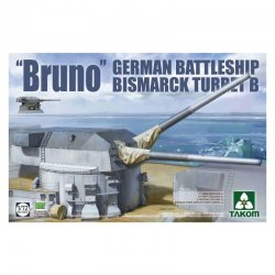 'Bruno' German Battleship Bismarck Turret B, 1/72