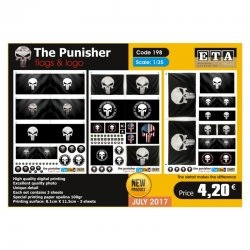 The Punisher - flags , logos