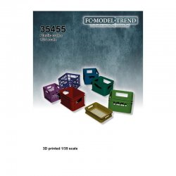 Plastic crates, 1/35 scale