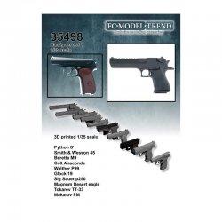 Hand guns, 1/35 scale