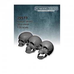 Human skulls, 1/35 scale