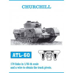CHURCHILL 1/35 metal tracks