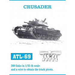 CRUSADER 1/35 metal tracks